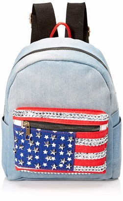Twig & Arrow Women's Flag Denim Dome Backpack