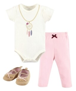 Baby Vision Little Treasure Unisex Baby Bodysuit, Pant and Shoes, Dream Catcher, 3-Piece Set, 12-18 Months (18M)