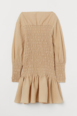 H&M Smocked Dress - Beige