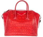 Givenchy Embossed Leather Large Anitgona Bag