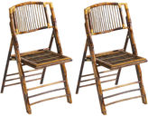One Kings Lane Tortoise Anneliese Folding Chairs, Pair