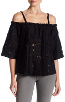 Jack Oregano Cold Shoulder Blouse