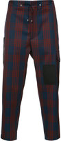 Oamc cropped plaid trousers - men - Cotton/Cupro/Virgin Wool - 32