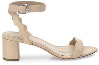 Loeffler Randall Emi Scallop Leather Sandals