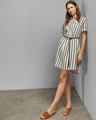 Ted Baker Striped Mini Shirt Dress