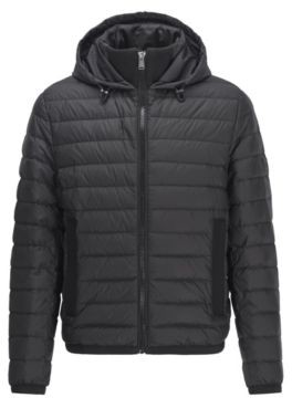 HUGO BOSS Water-repellent down jacket with pop-colour lining