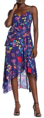 Parker Pippy Draped Floral High/Low Dress
