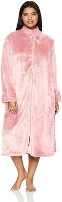 Casual Moments Women's 48 inch Breakaway Zip Front Robe Plus