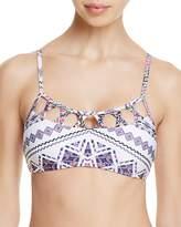 Red Carter Strappy Bralette Bikini Top