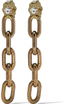 Zoë Chicco 14kt Yellow Gold Diamond Oval Link Earrings
