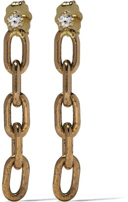 Chicco Zoë 14kt yellow gold diamond oval link earrings