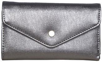 Mocha Becca Foldover Wallet - Metallic