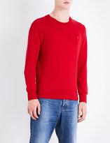 Ami Alexandre Mattiussi Fleece-lined cotton-piqué sweatshirt