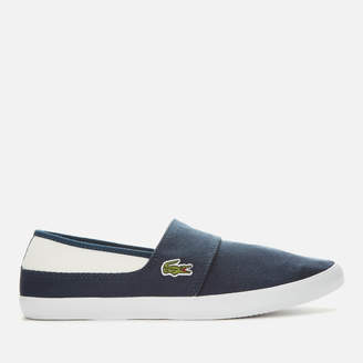 Lacoste Men's Marice Canvas Slip On Trainers - Navy/White