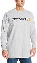 Carhartt Men's Big & Tall Signature Logo Midweight Jersey Long Sleeve T-Shirt