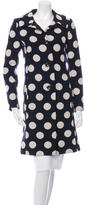 Moschino Wool Polka Dot Coat