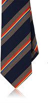 Barneys New York Men's Silk Repp Necktie-NAVY