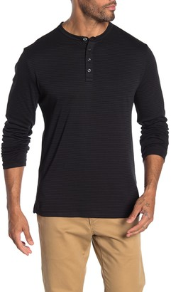 Robert Barakett Colton Stripe Long Sleeve Henley T-Shirt