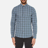 Michael Kors Men's Slim Fit Romeo Long Sleeve Shirt Pine