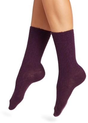 Natori Rib-Knit Crew Socks