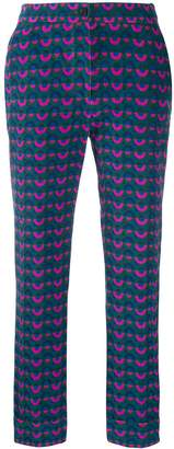 Pt01 all-over print trousers