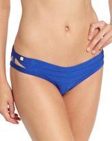 Herve Leger Strappy-Side Bikini Swim Bottom, Blue