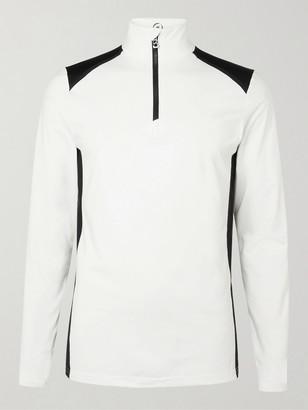 Bogner Tarry Slim-Fit Logo-Print Stretch-Jersey Half-Zip Base Layer