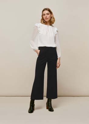 Flat Front Ponte Trouser