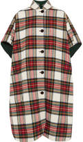 Burberry Reversible Tartan Wool-blend Poncho - Red