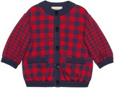 Gucci Baby Square G check cotton jacket