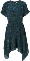 Kenzo flared floral dress - women - Silk/Polyester - 40