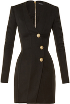 Balmain V-neck structured dress