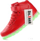 DoGeek Unisex Light up Shoes Amazon For Adult 50 Colors Led Shoes High Top USB Flashing Sneakers