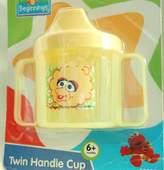 "Sesame Street Beginnings BPA Free Twin Handle Sippy Cup with Baby ""Big Bird"""