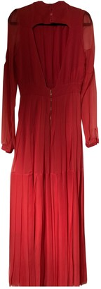 Rochas Red Silk Dresses