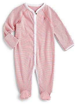 Ralph Lauren Baby Girl's Striped Cotton Footie