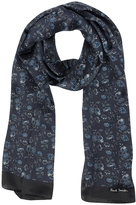 Paul Smith Navy Logan Floral Print Silk Men's Scarf
