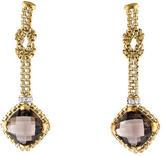 David Yurman Smoky Quartz & Diamond Drop Earrings