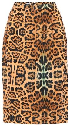 Dries Van Noten High-rise leopard-print midi skirt