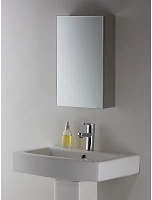 John Lewis & Partners Small Single Mirrored Bathroom Cabinet