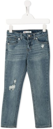 Levi's Distressed Slim-Fit Jeans