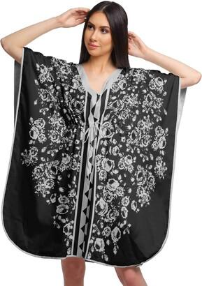 Moomaya Printed Beach Coverup Kimono Caftan Kaftan Swimsuit Cover Ups for Women