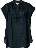 Nili Lotan Cotton Voile 'andres' Top