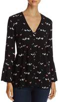4OUR DREAMERS Bird-Print Blouse