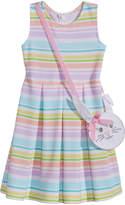 Bonnie Jean 2-Pc. Striped Dress & Bunny Purse Set, Little Girls