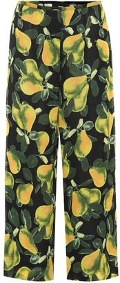 Marc Jacobs Pear cropped crepe pants