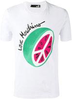 Love Moschino watermelon print T-shirt - men - Cotton/Spandex/Elastane - S