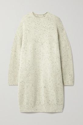 LAUREN MANOOGIAN + Net Sustain Melange Merino Wool-blend Dress - Beige