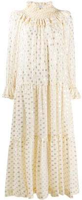 P.A.R.O.S.H. Scintilla polka dot print dress