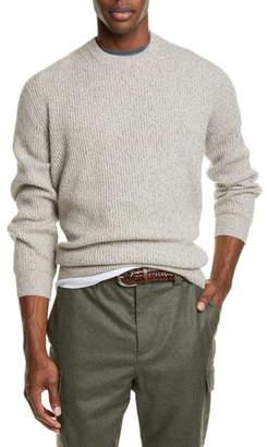 Brunello Cucinelli Melange Cashmere Crewneck Sweater